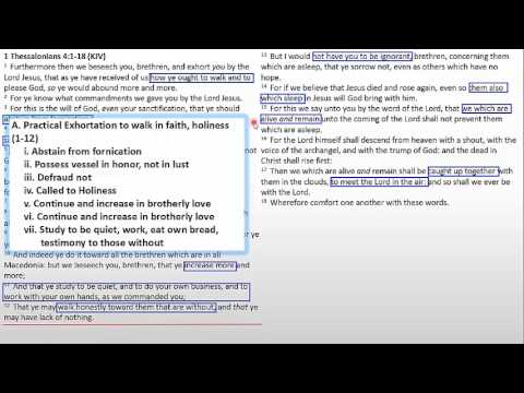 Outlining 1 Thessalonians: How to Outline a Book of the Bible