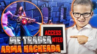 😎SCAMER MILLIONAIRE HACKER trades me Fortnite's MOST EXCLUSIVE WEAPON and LOSES ALL INVENTORY