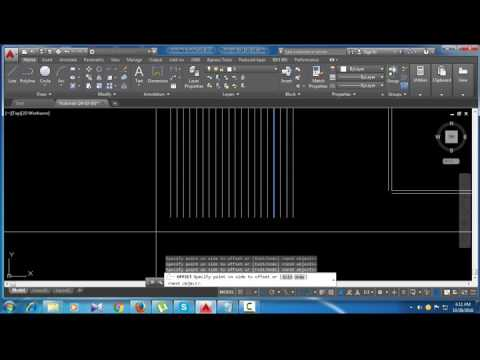 How Create  Line , Offset, Layers Properties Etc. Architectural Floor Plan (Part-03)