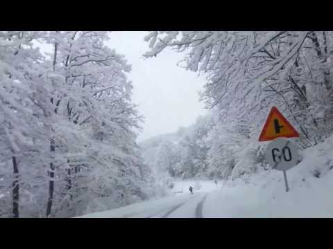 Driving in Serbia (winter+snow)