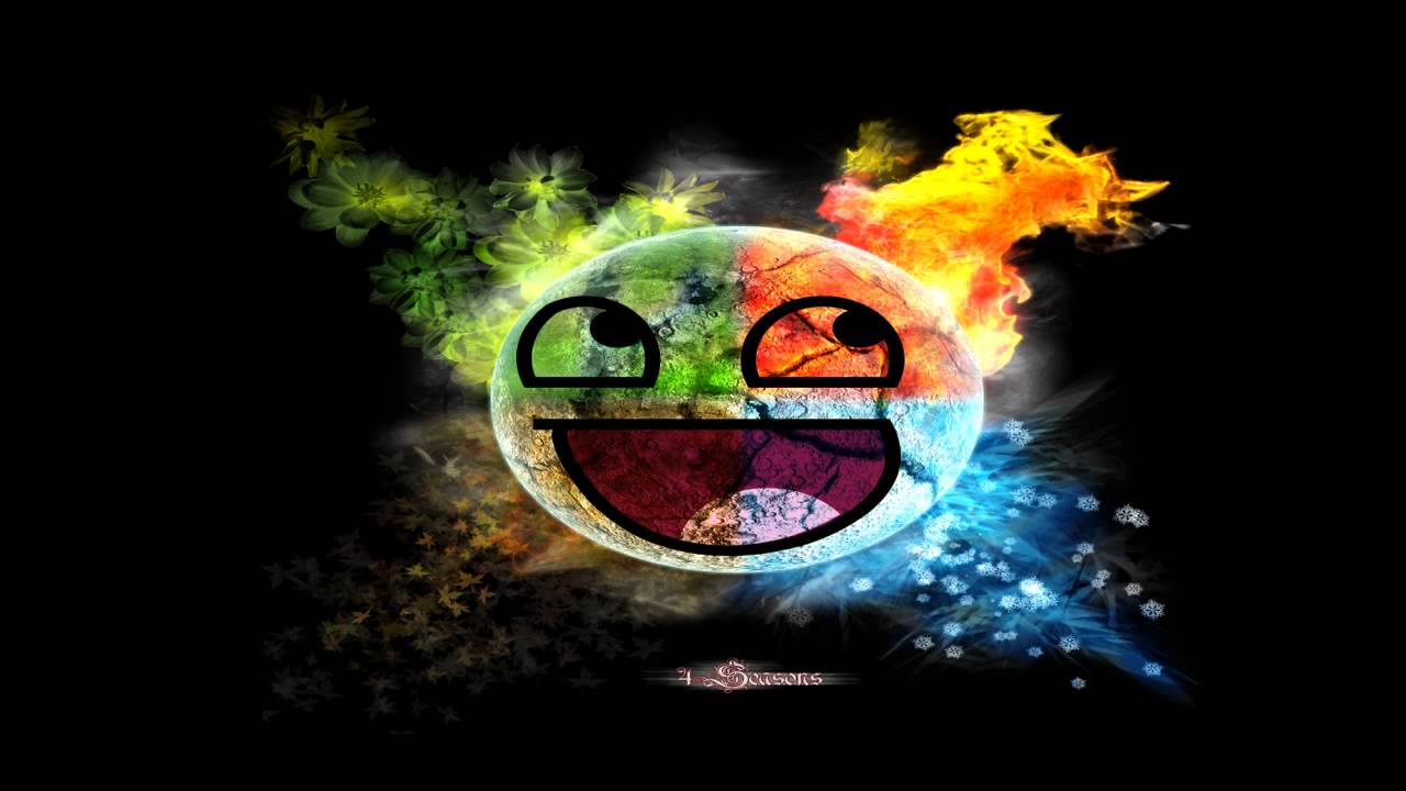 Rainbow Elemental Smiley Face Wallpaper 2 - YouTube