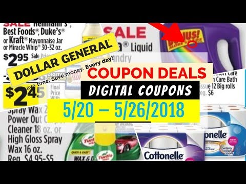 Dollar General Coupon Deals May 20 - 26, 2018