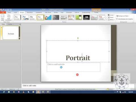 how to change page orientation in powerpoint