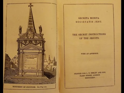 Old Jesuit Book Reveals their True Agenda