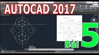 Tự học Autocad 2017 bài 5. (Lệnh Fillet, Array, Offset, Chamfer, Scale, Extend, Rotation)