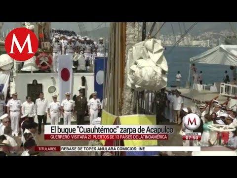 El buque 'Cuauhtémoc' zarpa de Acapulco