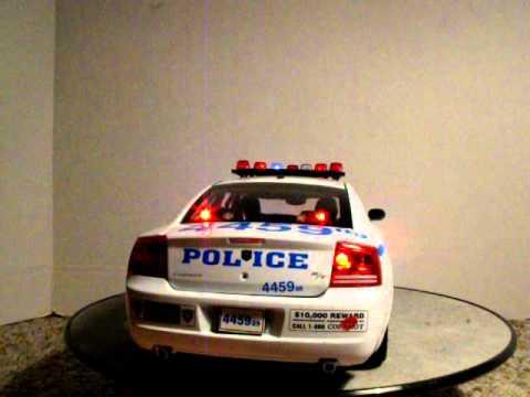 1 18 nypd dodge charger police car custom model car custom. Black Bedroom Furniture Sets. Home Design Ideas