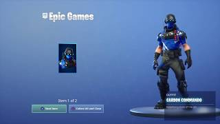 Fortnite Battle Royale - Free Playstation Plus Carbon Pack Available Now (Showcase)