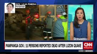 At least 11 persons dead in Luzon earthquake