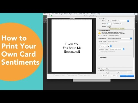 How to Print Your own card Sentiments