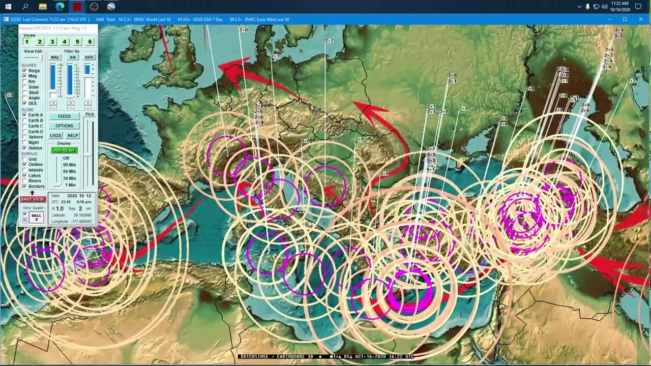 MIRROR: 10/16/2020 -- West Coast USA Earthquake -- M4.0 on Juan De Fuca -- PLATE SHIFTING NOW -- Be