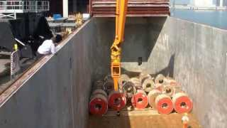 MANTSINEN - 200M Material Handler, Steel Coil Unloading