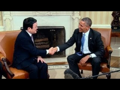 President Obamas Bilateral Meeting with President Truong Tan Sang