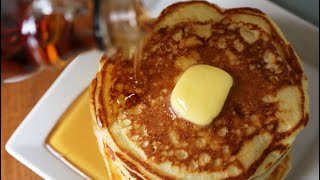 this is an awesome buttermilk pancake recipe,please try it for your family and friends, so light and fluffy VERY SIMPLE RECIPE: 2 cups all-purpose flour 3 ...