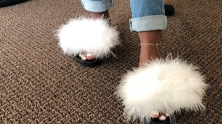 HOW TO: TRANSFORM OLD SLIDES TO FUR SLIDES  | D.I.Y EDITION | Michelle Iyere