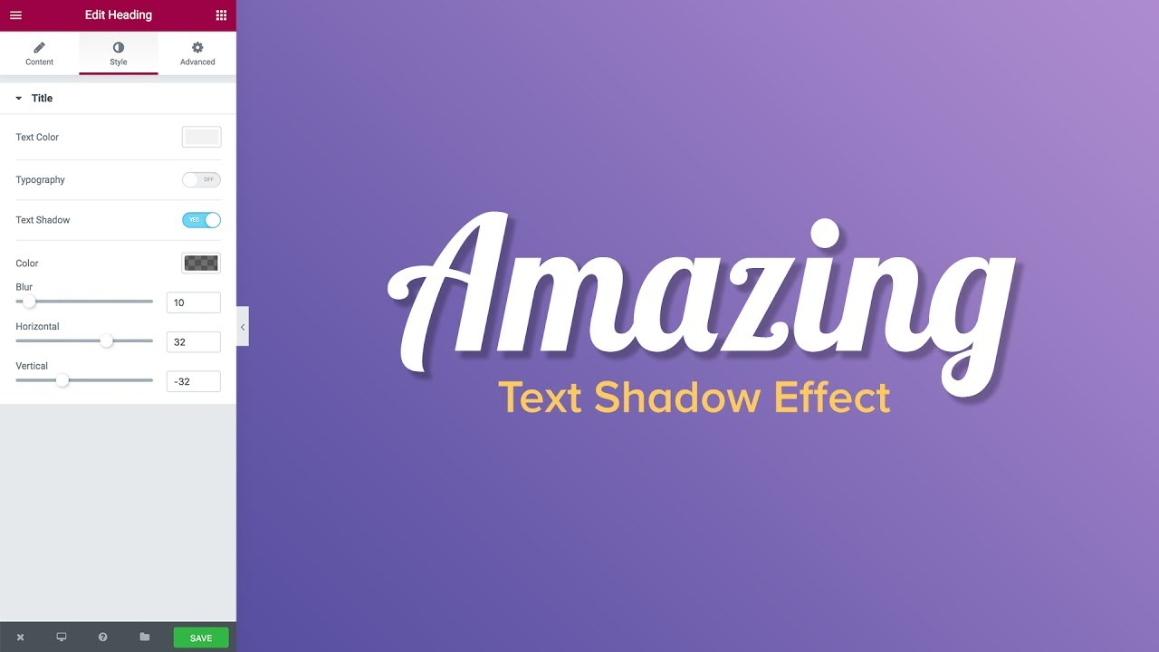 New Feature: Text Shadow Effect [Including 7 Examples]