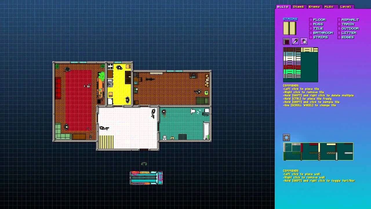 Hotline miami 2 level editor feature shown at e3 2014.