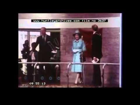 THE OFFICIAL OPENING OF CONCORDIA LEISURE CENTRE BY HRH THE QUEEN 15TH JULY 1977 FOOTAGE