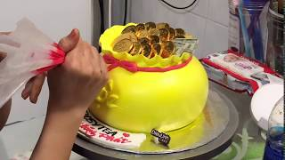 Cách làm bánh kem HỦ VÀNG cực đơn giản #1 - Dieulinhcake