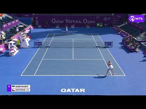 Anett Kontaveit vs. Petra Kvitova | 2021 Doha Quarterfinals | WTA Match Highlights