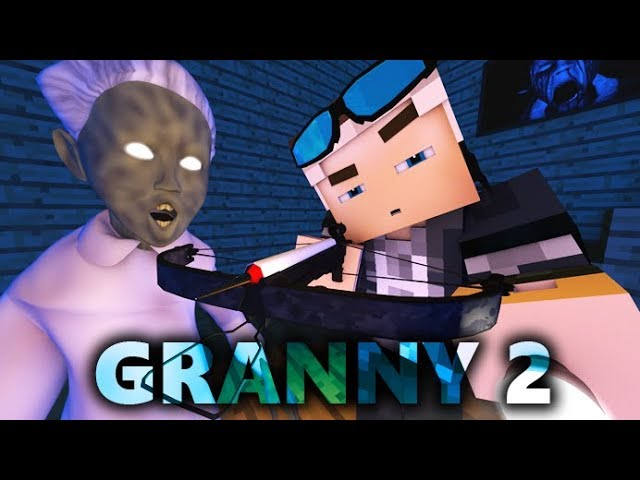 GRANNY IN MINECRAFT 2! Horror Game ANIMATION - Day 2