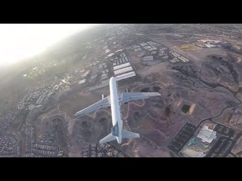 Drone in near miss with airliner at Las Vegas McCarran international airport.