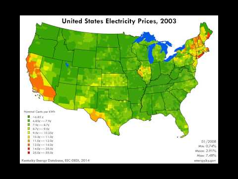 United States Electricity Prices, 1998-2012