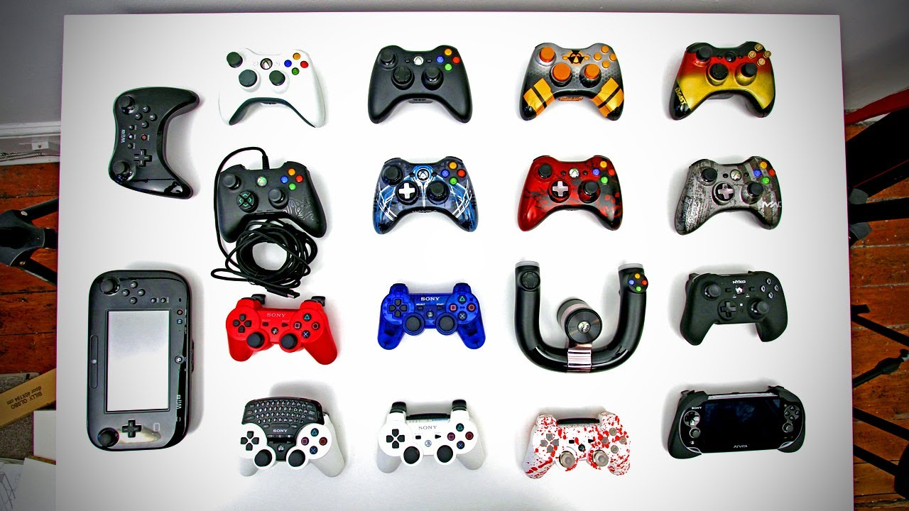 Ultimate Controller Collection Xbox 360 Ps3 Wii U Custom Controllers More Youtube