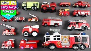 Learn Fire Engine For Kids Children Babies Toddlers | Emergency Vehicles | Kids Learning Video