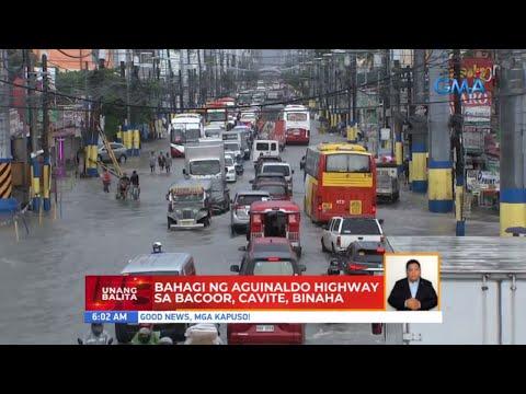 Bahagi ng Aguinaldo Highway sa Bacoor, Cavite, binaha | UB