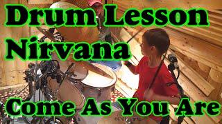 Как научиться играть Nirvana  Come As You Are на барабанах - Уроки на барабанах Drum lessons