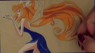 Winx Club: speed drawing Bloom