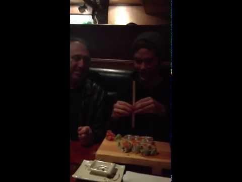 David Bendeth teaches Masato (Coldrain) how to eat Sushi