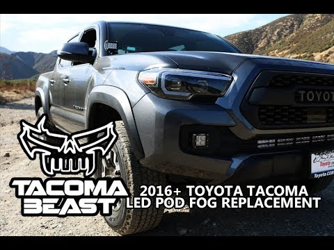 2016+ TOYOTA TACOMA LED POD FOG LIGHT REPLACEMENT HOW TO INSTALL | TACOMABEAST PODS