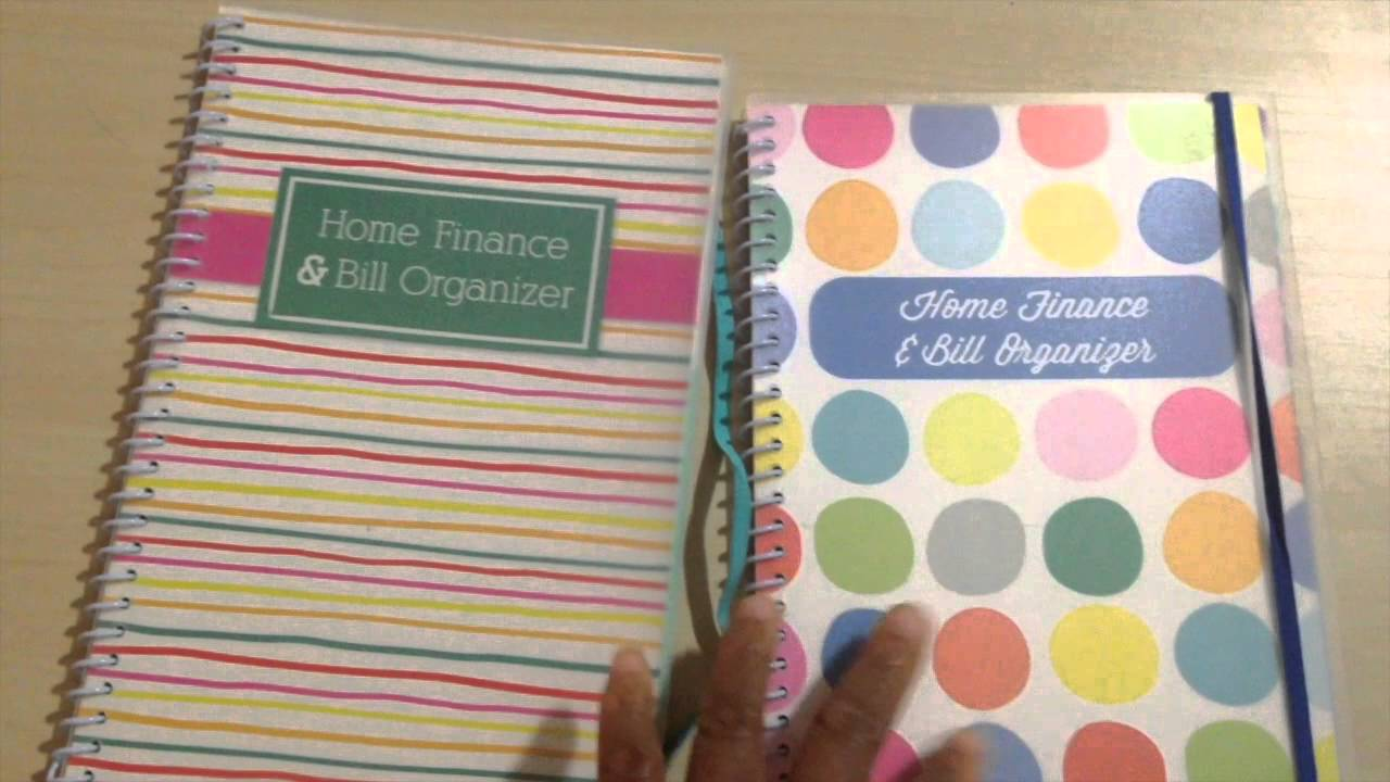 home finance and bill organizers