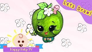 Lets Draw! Shopkins Apple Blossom Drawing and Coloring for Kids