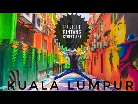 Kuala Lumpur Street Art Bukit Bintang Malaysia Youtube