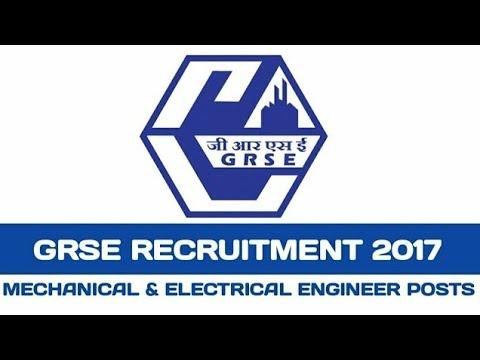GRSE Recruitment 2017 | Design Assistant |(Supervisor) Apply Online