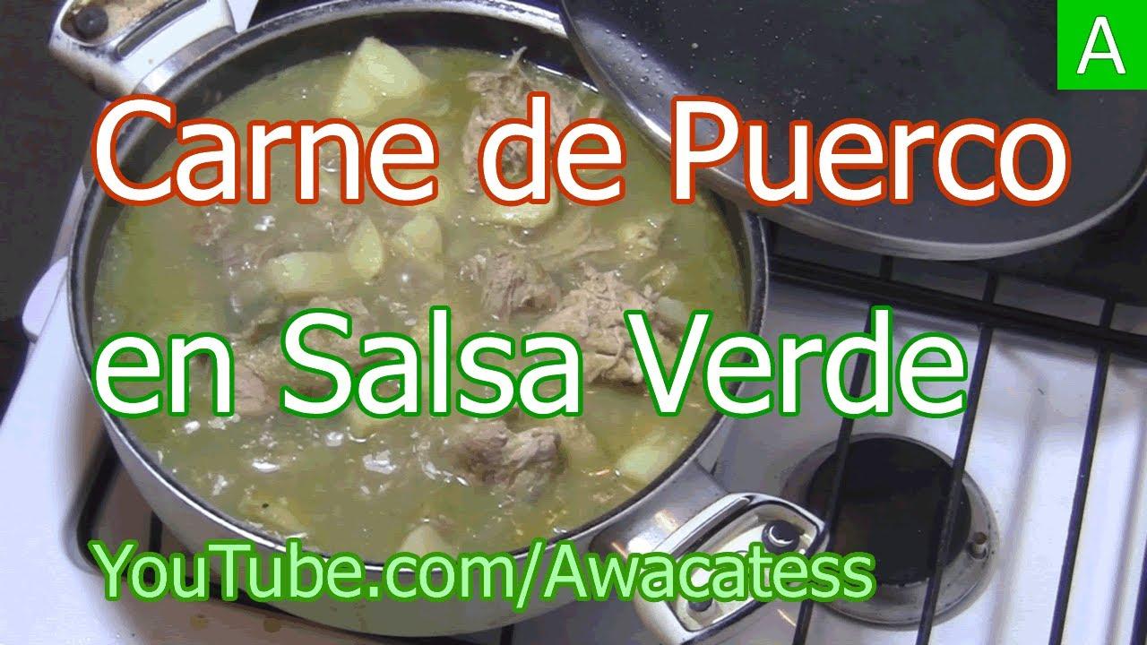 Como hacer Carne de Puerco en Salsa Verde. Recetas de Comida ...