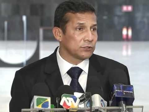 Presidente eleito do Peru, Ollanta Humala, concede entrevista sobre audiência com presidenta Dilma