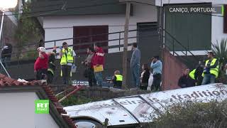 Portugal l&#39accident d&#39un bus touristique a Madere fait au moins 29 morts