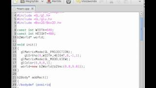 box2d tutorial 1 c and opengl or sdl main application