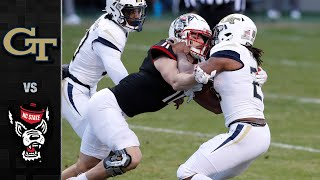 Georgia tech vs. nc state: the wolfpack finished their regular season with a 23-13 win over yellow jackets. most of state's 397 total yards came from...