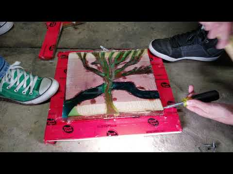 DIY Tree Wall Art With Epoxy