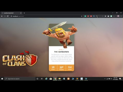 Create Clash Of Clans Card Using HTML & CSS In Hindi