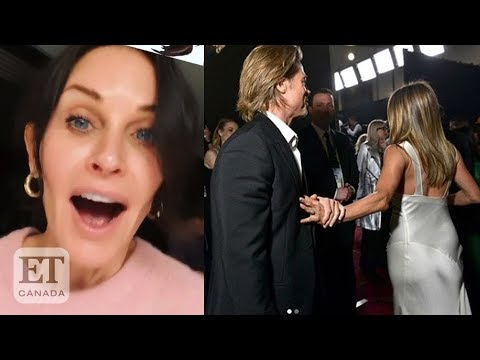 Courteney Cox Reacts To Brad Pitt-Jennifer Aniston Reunion At SAG Awards
