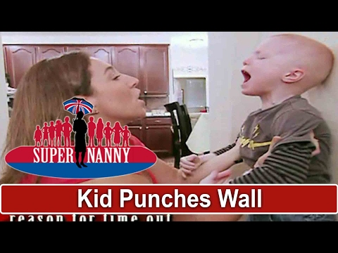 4yr Old Punches Wall During Time Out | Supernanny USA