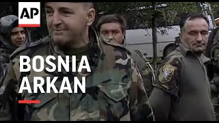 BOSNIA: CAPTURED SOLDIERS PARADED BY SERB PARAMILITARY LEADER