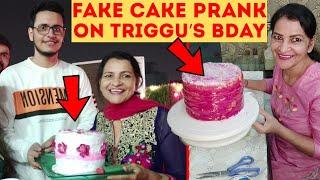 Fake *CAKE PRANK* on TRIGGERED INSAAN !! ft @Triggred insaan