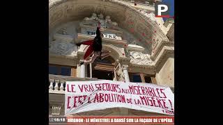 Avignon - Mobilisation du monde culturel : Le Ménestrel a dansé sur la façade de l'opéra